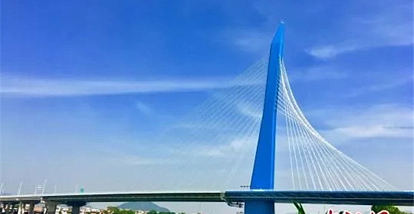 全球最宽单塔斜拉桥 漳州沙洲岛特大桥通车