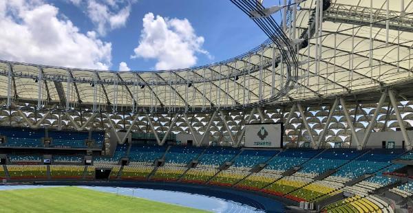 三亚国际体育产业园体育场正式完工 白鹭展翅打造城市新地标
